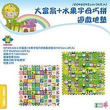 【紫貝殼】CHING-CHING親親 遊戲墊/地墊/安全墊 -大富翁+水果字母 WT305-602-4
