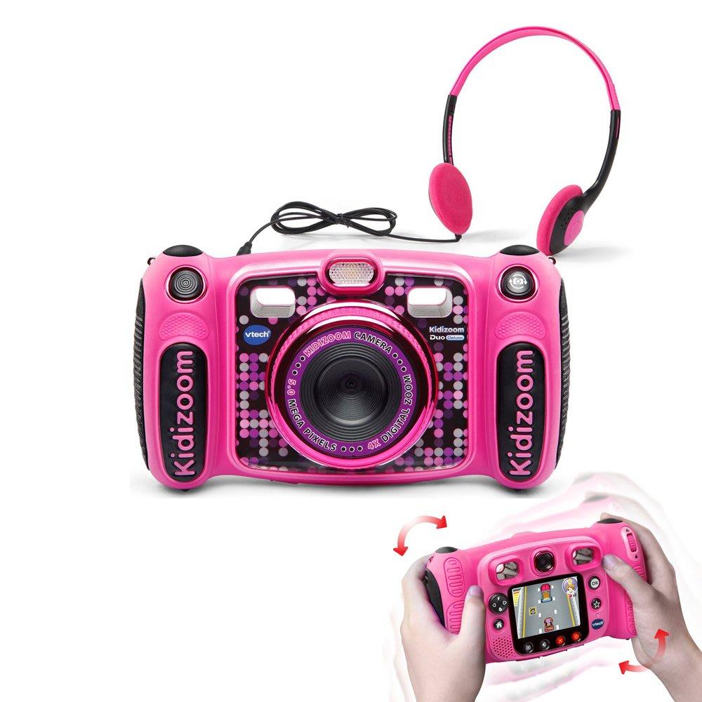 【WowLook】VTech Kidizoom DUO Deluxe 升級版 兒童數位相機防摔附耳機 可聽MP3
