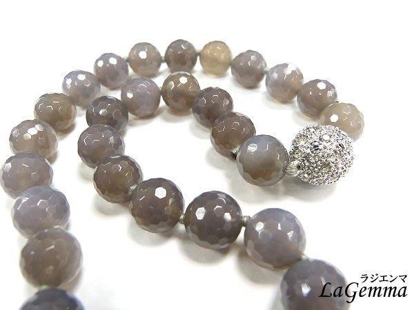 【寶峻水晶】避邪檔煞,護身黑瑪瑙切角角珠項鍊,bling磁性水鑽扣環(12mm) 佛教七寶石之一