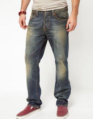 原廠正品!Nudie Straight Alf Org. cloudy vintage W28L30牛仔褲。levis,diesel可參考
