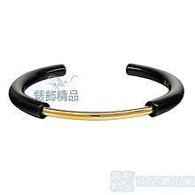 CK 飾品 KJ5FBF2001 Calvin Klein PVD金+黑色C形女性手環 316L白鋼【錶飾精品】
