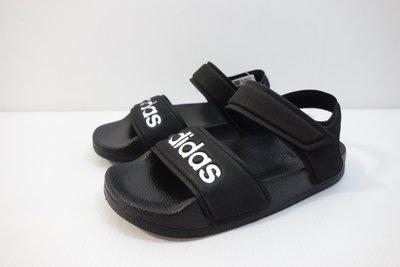 =小綿羊= ADIDAS ADILETTE SANDAL K 黑白 G26879 愛迪達 中童 涼鞋 透氣 舒適