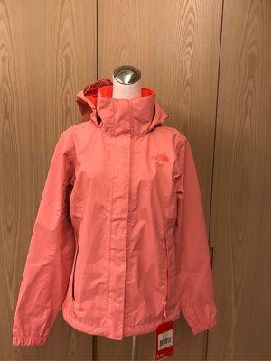 全新 The North Face 美國帶回 女款粉紅色 防風透氣連帽外套 運動型 DRYVENT 吊牌在 M號 有雷標