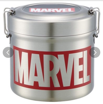 (現貨)總容量約840ml 約高12.4cm 超輕量 保溫 不銹鋼 雙揭手拉 飯壺 Marvel 超級英雄日本直送 全新品