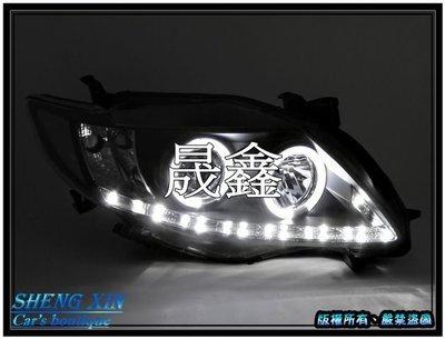 《晟鑫》全新 豐田 TOYOTA ALTIS 10代專用 08 09 10年 黑底 雙光圈 R8燈眉 魚眼 大燈組