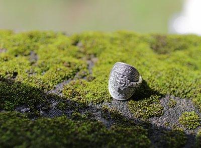 【monolith】墨西哥 阿茲提克圖騰湯匙戒指 國際圍15號
