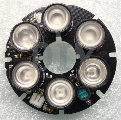 DIY 監視器材~ 6顆陣列燈板 ((M12 MTV鏡頭用))  陣列紅外線燈 含稅價