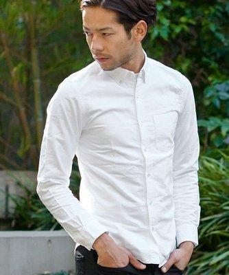 Cover Taiwan 官方直營 BEAUTY YOUTH 牛津紡 簡約 長袖襯衫 素面 日本 修身 白色 (預購)