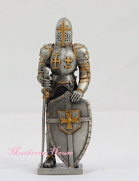 點點蘑菇屋{合金武士擺飾}合金中古武士(一)~右手劍左手盾 鐵甲武士 歐洲中古世紀羅馬 盔甲武士 現貨