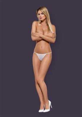 °☆就要襪☆°全新歐洲品牌 OBSESSIVE LUIZA 性感低腰薄紗圖騰刺繡丁字褲