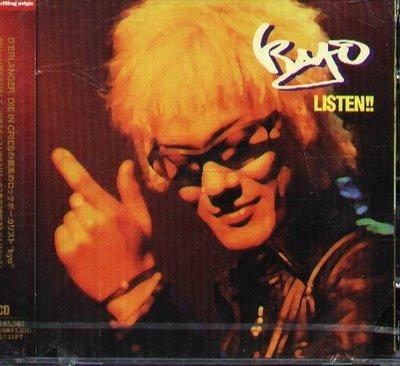 K - kyo - LISTEN !! - 日版 2CD - NEW