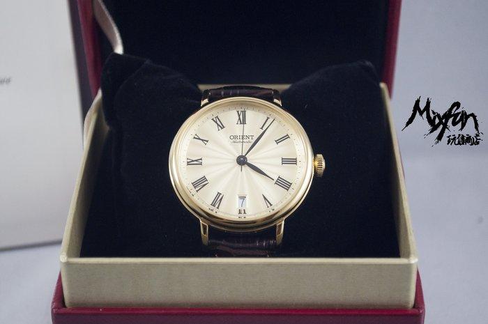 ORIENT 日本原廠經典時尚機械自動錶,金色錶身 (FER2K003C0)