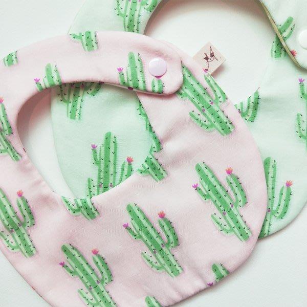 米咕手作 △ 寶寶六重紗 圍兜兜 / 口水巾 / 領巾 |仙人掌|