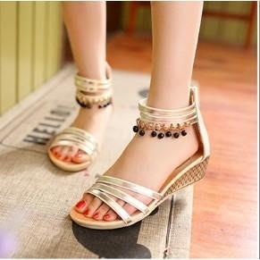 ♥Salina SHOP♥時尚亮面流蘇平底鞋平底涼鞋厚底涼鞋