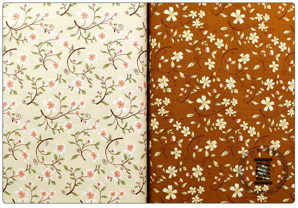 ✿小布物曲✿小花鄉村風 純棉印花布 窄幅110CM  韓國進口布料質感優 共2色 單價