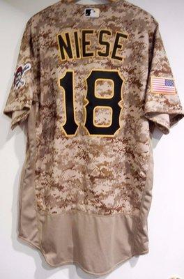 MLB 2016 Pittsburgh Pirates #18 Niese 迷彩 Military Jersey