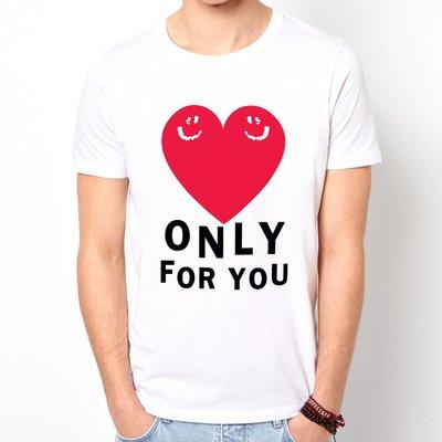 【Dirty Sweet】Only for You短袖T恤-白色 Love愛只給你情侶情人節七夕設計插畫潮流相片290