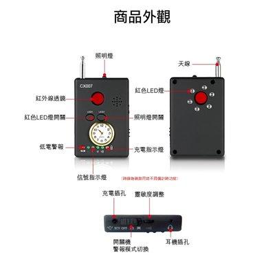 【皓翔防身館】全視線 CX007 多功能反偷拍/監聽 偵測器