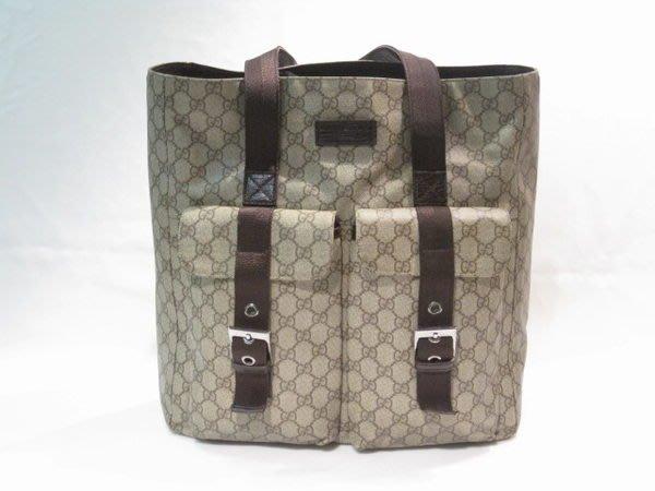 *旺角名店* Gucci pvc 防水防刮 雙口袋側背包 購物包 購物袋 公事包 可放A4 [09110302]