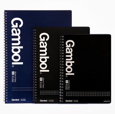 日本KOKUYO國譽Gambol螺旋筆記本WCN-GTN 商務方格橫線線圈記事本
