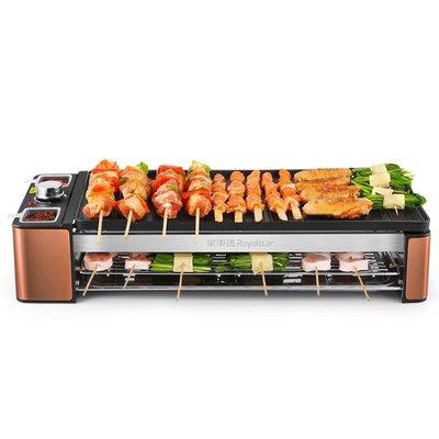 電燒烤爐自助家用自動電烤串烤羊肉串烤肉機室內 尚美優品