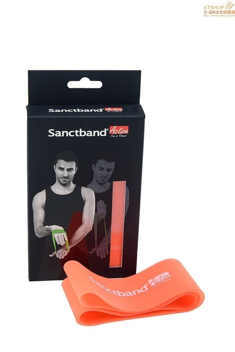 【Live168市集】發票價 原廠品質保證 Sanctband 環狀拉力帶 亮橘(超輕型) 運動用品 拉力帶 肌力訓練