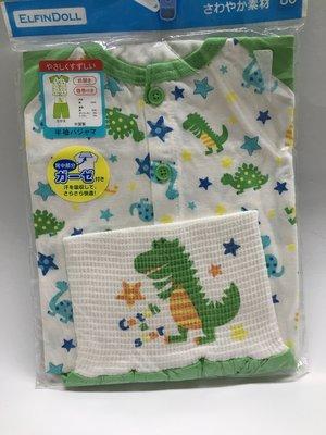 (日本帶回) 80cm 動物圖案  嬰幼兒嚴選素材 棉質料柔軟  彈性腹圍褲  居家服 睡衣 現貨  西松屋