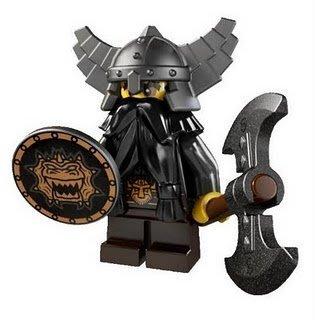 絕版【LEGO 樂高】玩具 積木/ Minifigures人偶包系列: 5代 8805 | #12 邪惡矮人+斧頭+盾牌