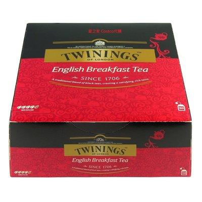 costco代購 #85984 Twinings 英倫早餐茶 2公克X100包