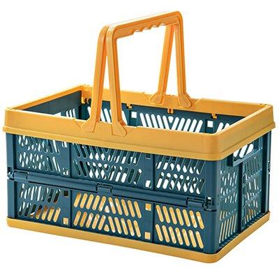 LoVus 可折疊手提收納籃居家車載購物籃
