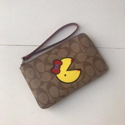 琳精品@COACH 75594 限量小精靈 女士PVC 手拿包手腕包 零錢包 錢包