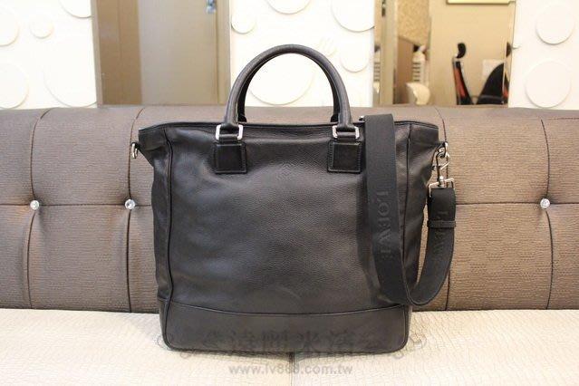 高雄(裕誠店)遠麗米濱全新二手名牌館~K3240 Loewe 黑色 皮革 Amazona Tote 手提 肩背包(真品)