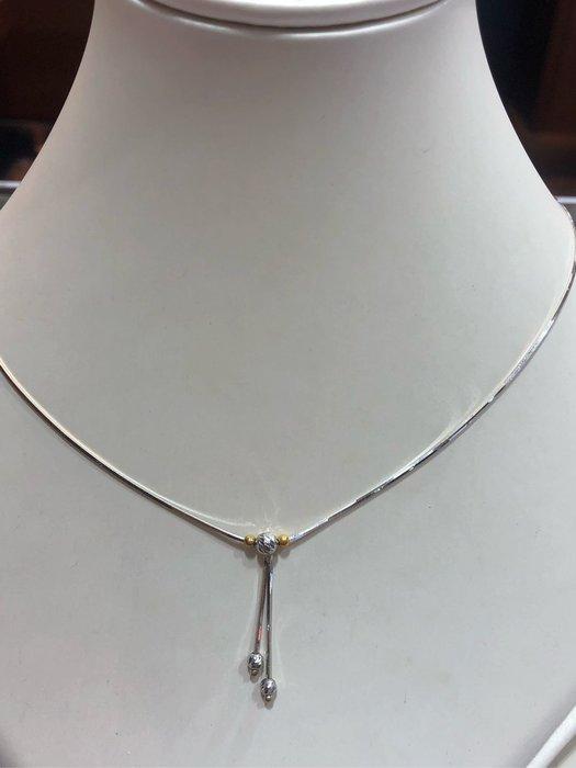 正義大利585/14K金項鍊 套鍊,簡單Y字鍊套鍊雙色K金,款式簡單耐看適合平時配戴,超值優惠價5380元