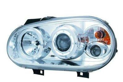 ☆雙魚座〃汽車精品〃福斯 VW GOLF 4代 98~02 晶鑽雙光圈魚眼式大燈 golf 大燈 golf 4代 大燈