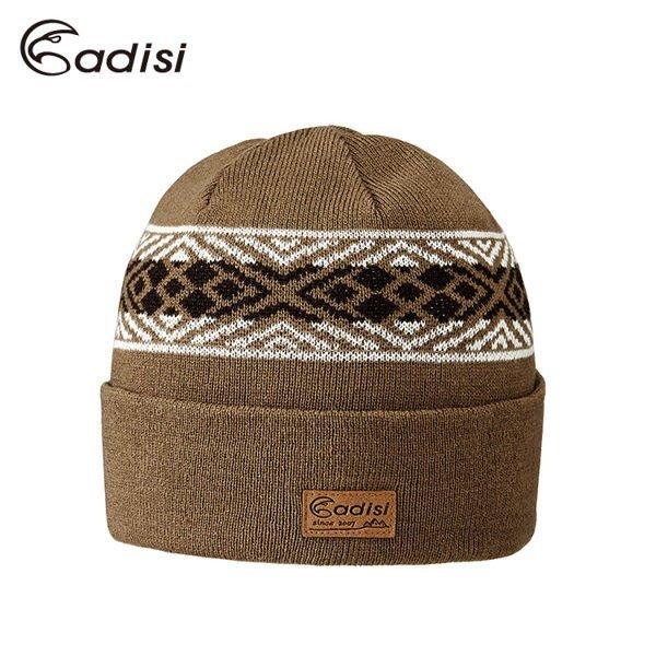 丹大戶外【ADISI】3M THINSULATE美麗諾羊毛雙層保暖帽 AS16164 灰棕/F