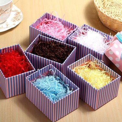 拉菲草碎紙絲喜糖盒禮品盒禮物填充物拉絲紙厚紙婚慶用品多色可選#禮品盒#包裝盒#創意#禮物盒
