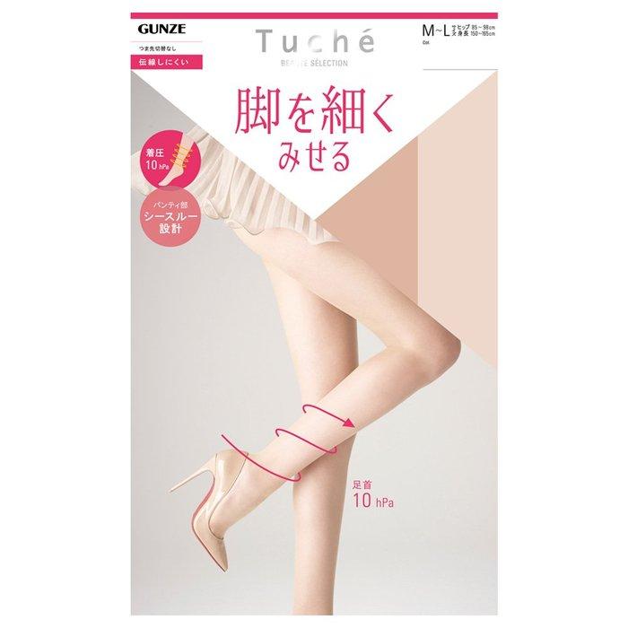 【拓拔月坊】GUNZE 郡是 Tuche 「腳細」防勾紗 全透明 著壓絲襪 日本製~新款!