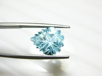 【Texture & Nobleness 低調與奢華】天然寶石 瑞士藍托帕石 5.3克拉