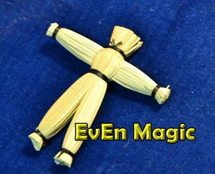 【意凡魔術小舖】稻草人站立 非磁力 隱線 雙面膠帶 靈異稻草人 巫毒娃娃 巫術玩偶