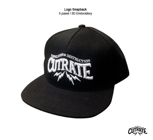 GOODFORIT/ 美國Cutrate Logo Snapback 立體凸繡五片式剪裁帽款