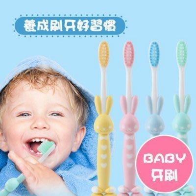 八號倉庫 卡通熊熊小兔造型幼兒軟毛刷 牙刷【2E071P197】