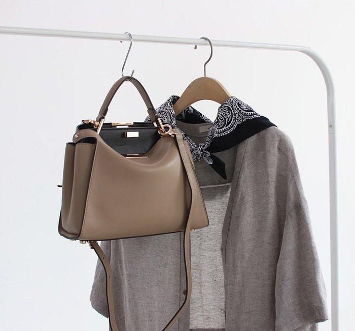 愛BAG SHOP 韓國 WHOSBAG 高質感小牛皮革 手工縫線 經典可肩背方包 小尺寸 4790 預購 共4色