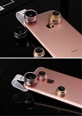 【魚眼、微距、超廣角】3in1手機鏡頭套裝