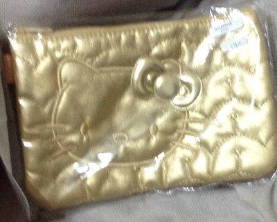 全新金色kitty大臉化妝包