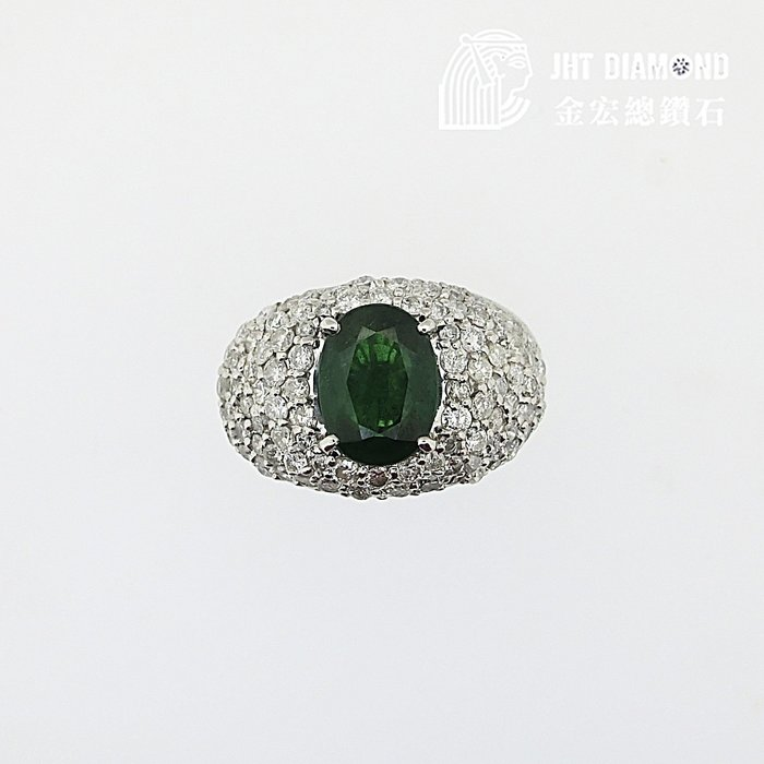 【JHT金宏總珠寶/GIA鑽石專賣】天然翡翠鑽石戒( JB23-B029)