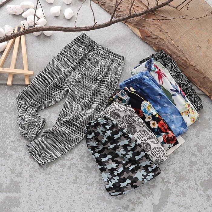 【溜。溜。選物】夏季新款男女童薄款柔軟透氣防蚊燈籠褲