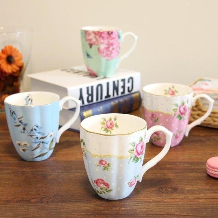 骨瓷馬克杯英式喝水杯子大容量家用早餐杯子歐式咖啡杯水杯陶瓷杯