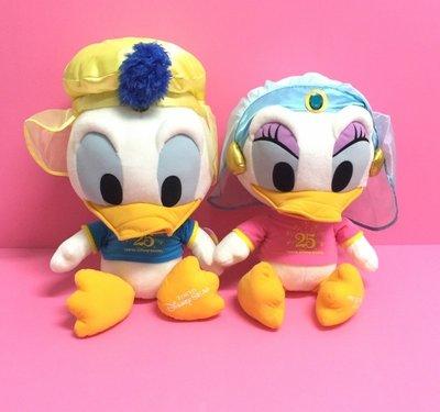 【Dona日貨】日本迪士尼樂園限定 超大隻25週年唐老鴨黛西阿拉丁夢幻造型 娃娃/玩偶/布偶(1組2入) F12