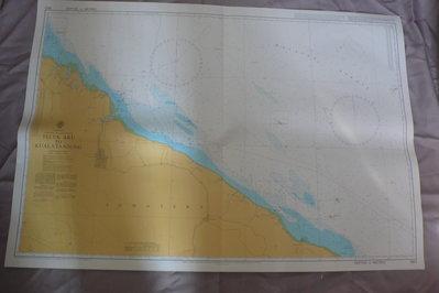 藍色小館46-1-DEPTHS IN METRES航海圖-TELUK ARU TO KUALATANJUNG
