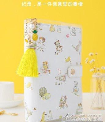 貓記A6活頁手賬本套裝創意小清新學生用手帳本筆記本韓國日程本